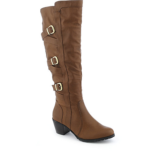 DeBlossom Bottega-4 womens low heel knee-high boot