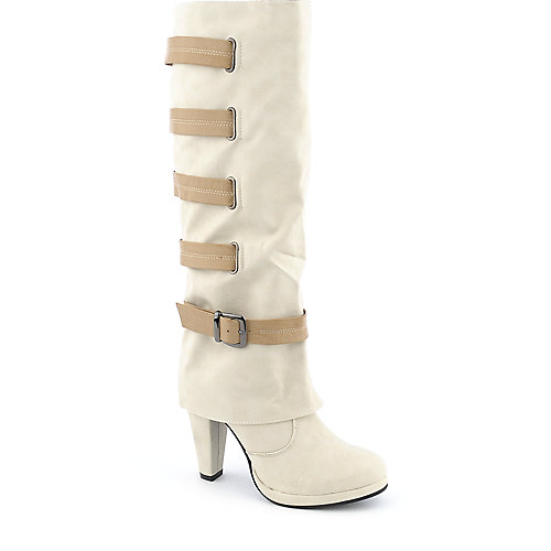 DeBlossom Kuroda-3 womens high heel platform knee-high boot