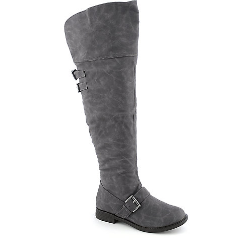 DeBlossom Galles-1 womens low heel western/riding thigh-high boot