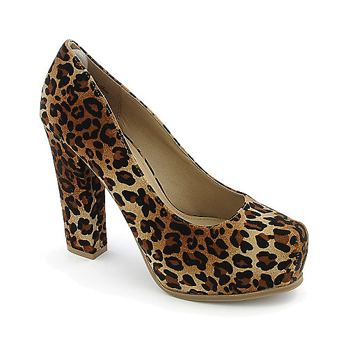 Bamboo Petunia-01 womens animal print platform high heel pump