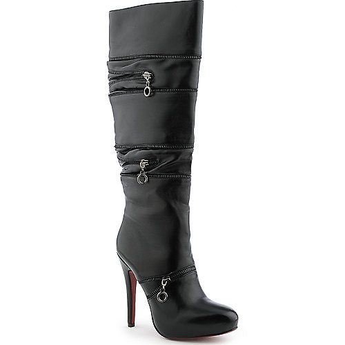 Cleopatra Blooming womens black boot