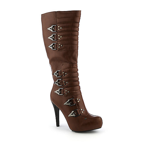 Cleopatra Piolo womens high heel knee-high platform boot