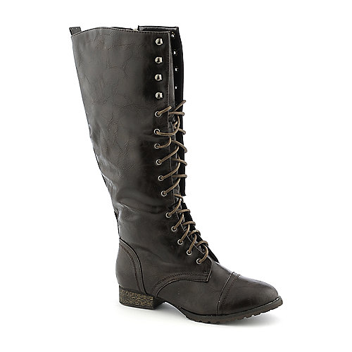 Breckelle's Outlaw-13 womens knee-high low heel boot