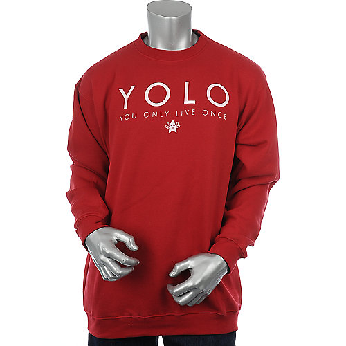 Shooting Star Clothing YOLO Crewneck mens sweater
