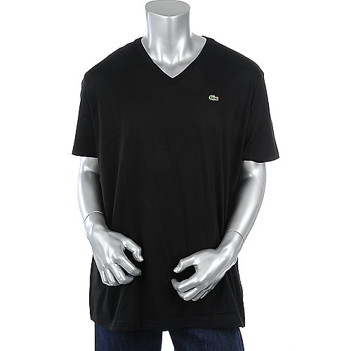 Lacoste Short Sleeve Pima Jersey V-Neck T-Shirt mens tee
