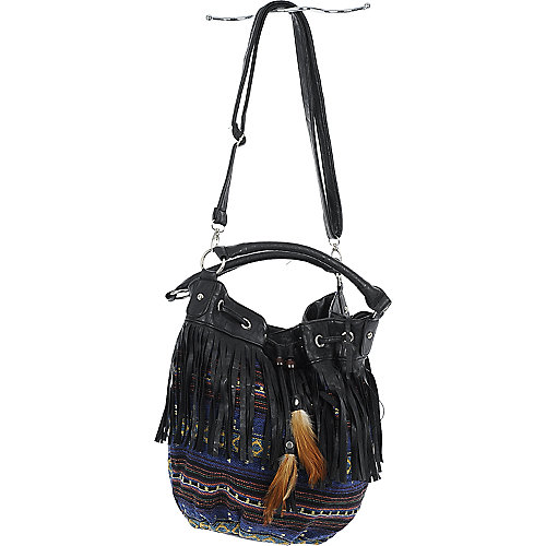 Elleven K Boho Fringe Bag tribal print bag