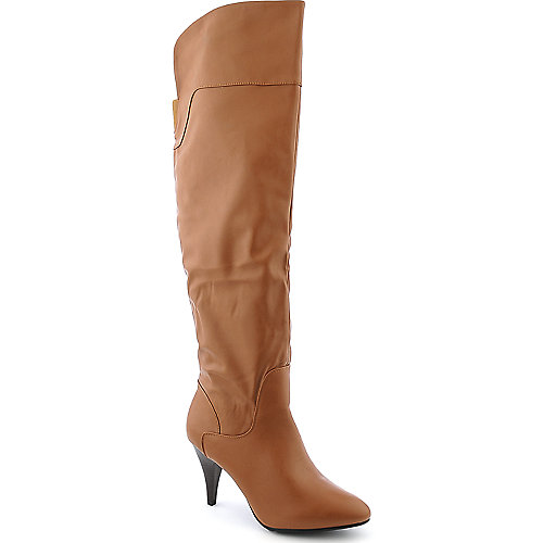 Bamboo Triska-01 womens knee high low heel boot