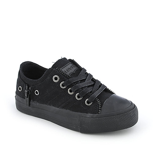 Levis Zip Ex Lo Canvas mens black sneaker