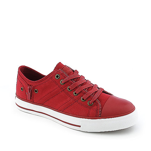 Levis Zip Ex Lo Canvas youth red sneaker