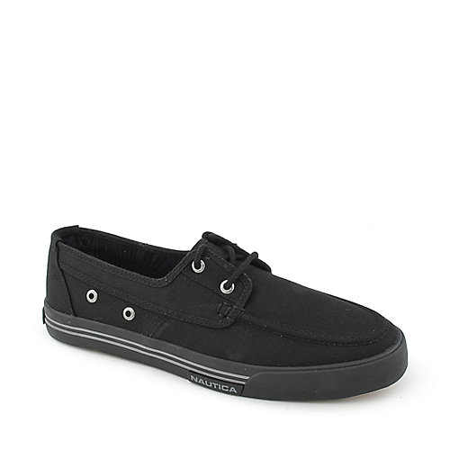 Nautica Moc Toe Canvas Lace mens boat shoe