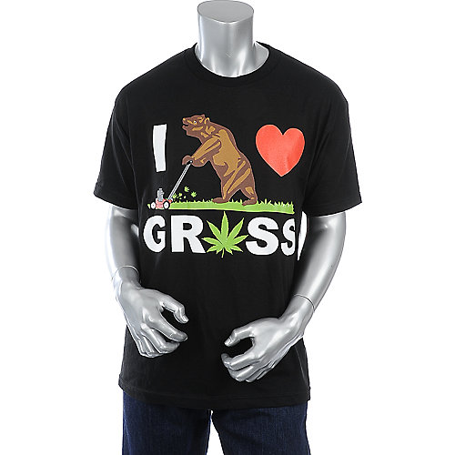 Economix I Luv Grass Tee mens black tee