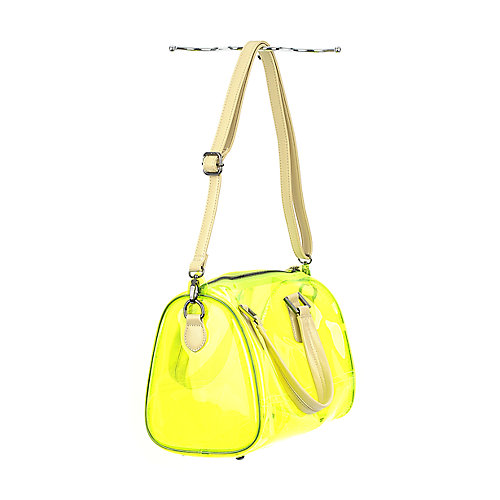 Shiekh Transparent Satchel neon lime handbag