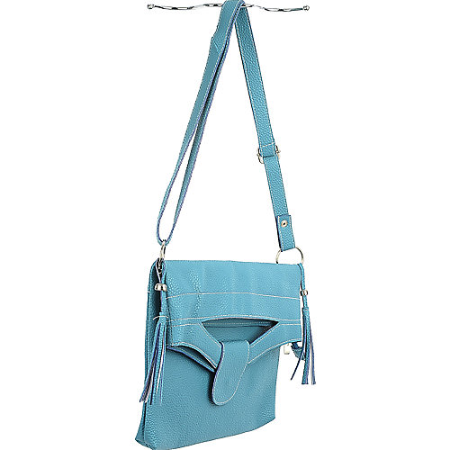 Elleven K Fold Over Flap Handbag leatherette shoulder bag