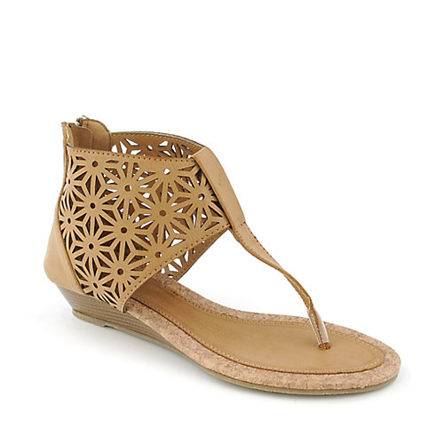 Yoki Calaca womens low wedge sandal