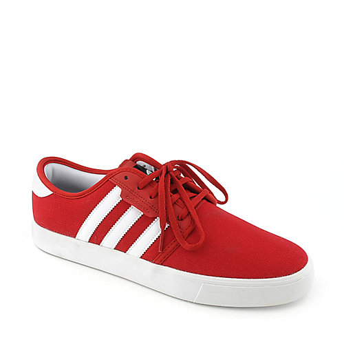 Adidas Mens Seeley red casual skate shoe