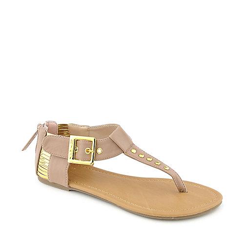 1930d1c26242 Shiekh Womens 046 Flat Sandal nude t-strap sandal