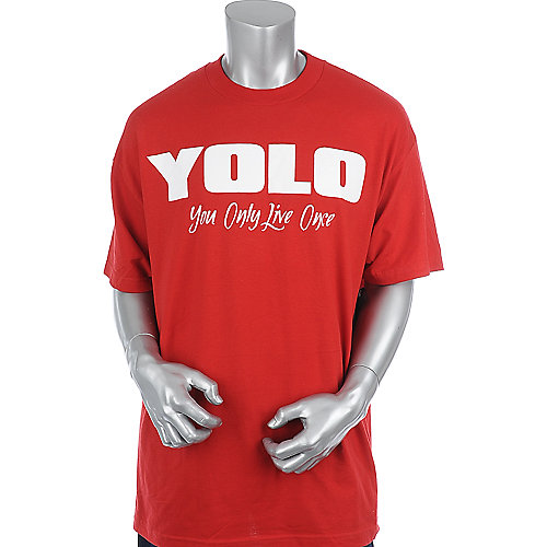 Economix YOLO Tee mens red tee