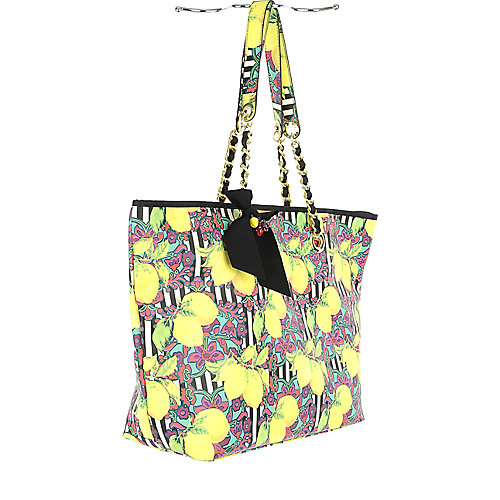 Betsey Johnson Fruit-Y Tote yellow bag