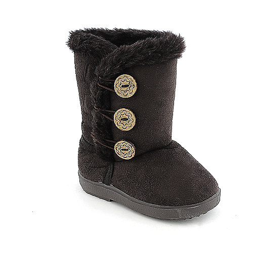 Shiekh Toddler 2282 brown mid calf fur boot