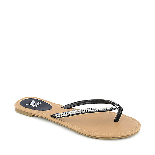 Shiekh Brett-S womens jeweled flat flip flop thong sandal