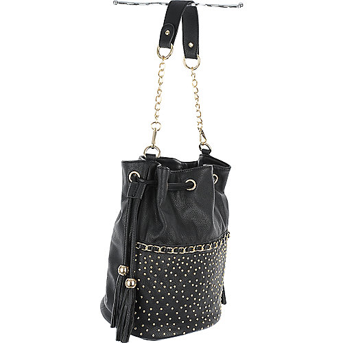 Studded Bucket Bag black shoulder bag