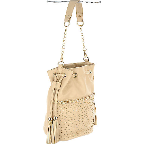 Studded Bucket Bag nude shoulder bag