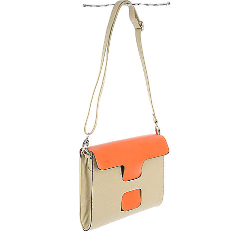 Shiekh Color Block Satchel vegan leather bag
