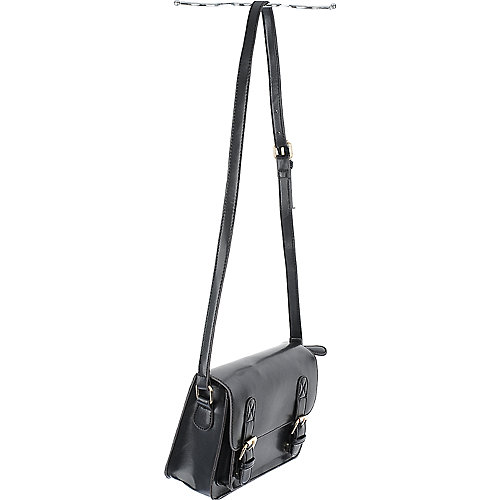 Shiekh Front Pocket Satchel black shoulder bag