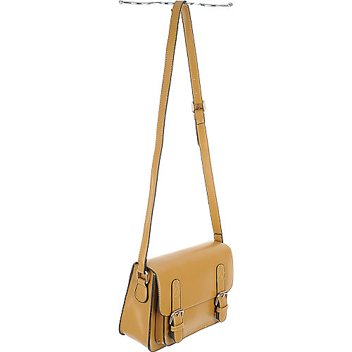 Shiekh Front Pocket Satchel tan shoulder bag