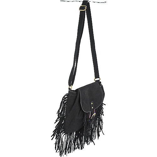 Shiekh Fringe Cross Body Bag black handbag