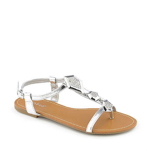 Bamboo Breezy-01 womens flat jeweled thong sandal