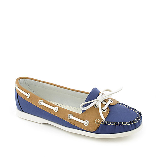 Nature Breeze Lea-01 womens slip-on flat boat shoe