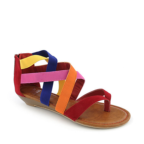 Shiekh Denisa-83 womens strappy wedge thong sandal