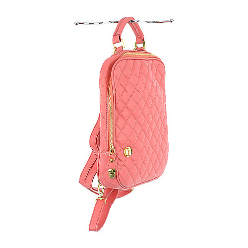 Nila Anthony Quilted Backpack salmon pink backpack