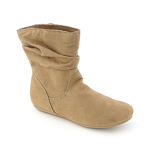 Groove Womens Tauri tan flat ankle boot