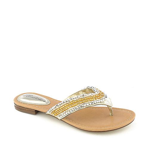 Breckelle's Lilly-02 womens thong sandal