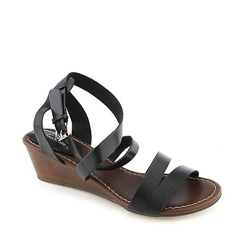 Breckelle's Miami-01 womens low wedge sandal
