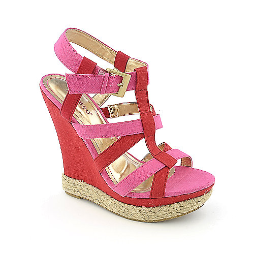 Bamboo Driven-81 womens casual espadrille platform wedge