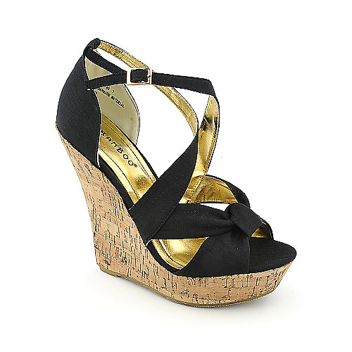 Bamboo Driven-83 womens casual wedge platform