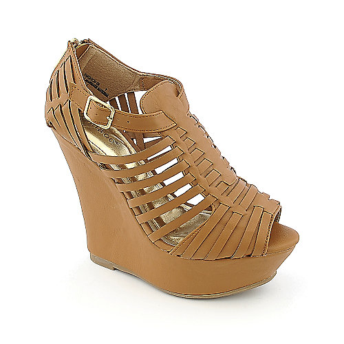 Bamboo Smooch-06 womens casual platform wedge