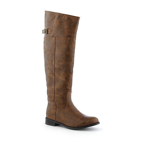 Breckelle's Rider-82 womens riding low heel knee high boot