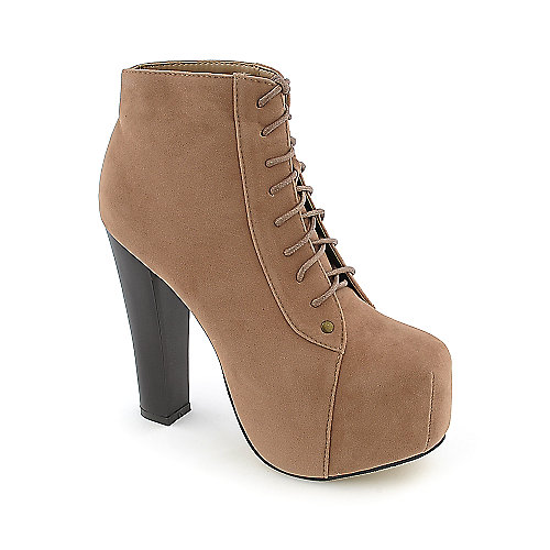 Glaze Victoria-1 womens high heel platform ankle boot