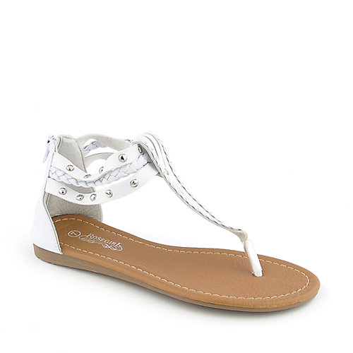 Rose Girl B1037 womens flat thong T-strap sandal