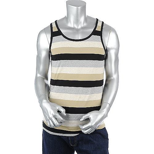Galaxy by Harvic Stripe Tank mens tank
