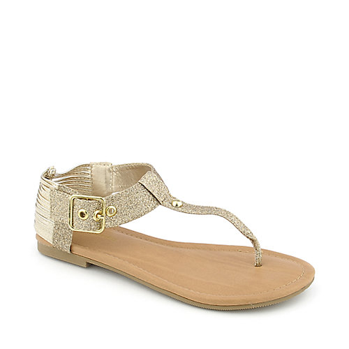 City Classified Yoana-S womens flat thong T-strap strappy sandal