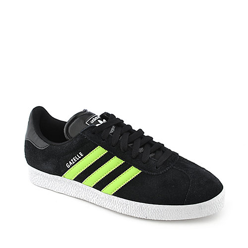 Adidas Gazelle II black and green athletic lifestyle sneaker