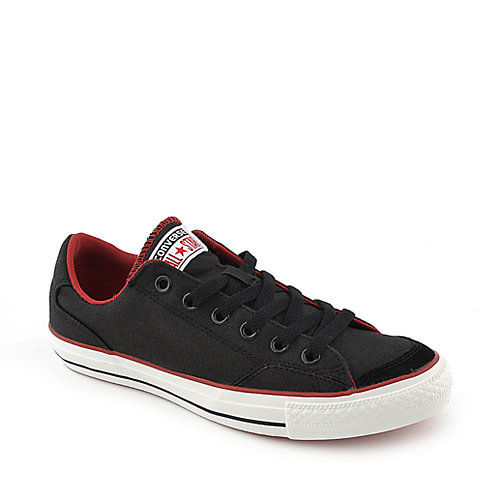 Converse Chuck Taylor LS OX mens black and red athletic lifestyle sneaker