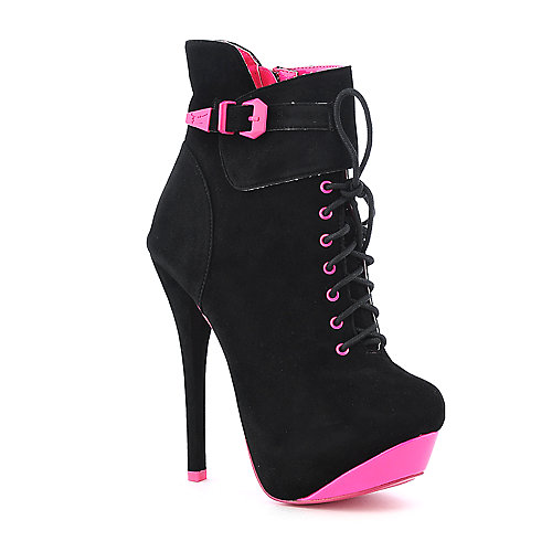 Shiekh Womens 085 black high heel ankle boot