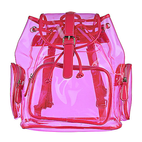 Shiekh Transparent Backpack neon pink bag