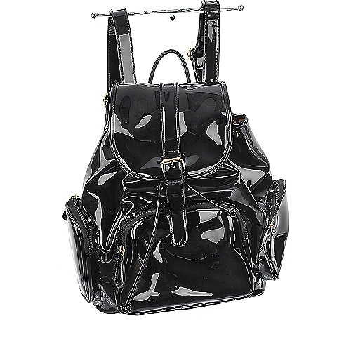 Shiekh Transparent Backpack black bag